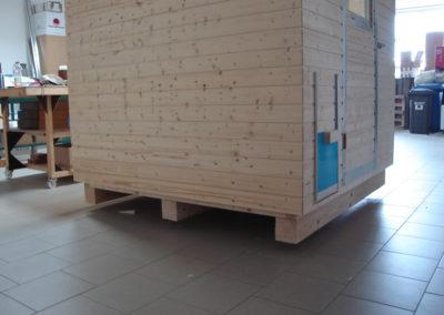 Unterbau mit 12er Kantholz