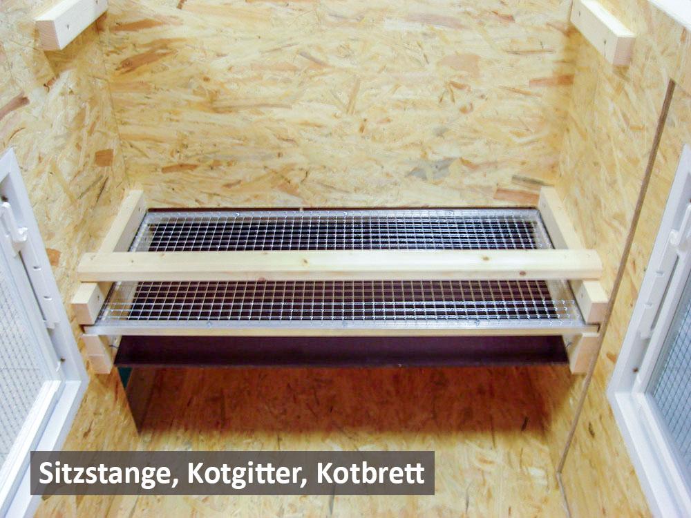 Sitzstange Kotgitter