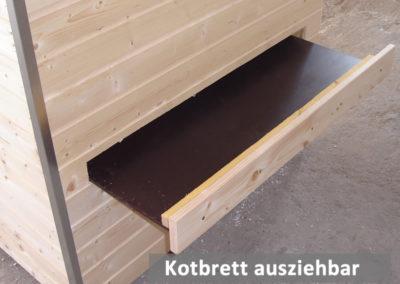 Kotbrett von außen ausziehbar