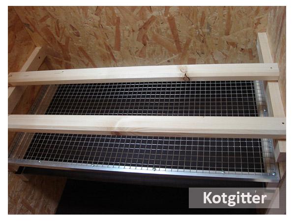 Kotgitter für Hühnerstall